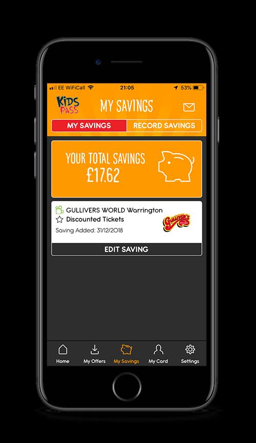 kids pass app my savings