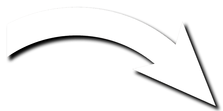 white curved arrow
