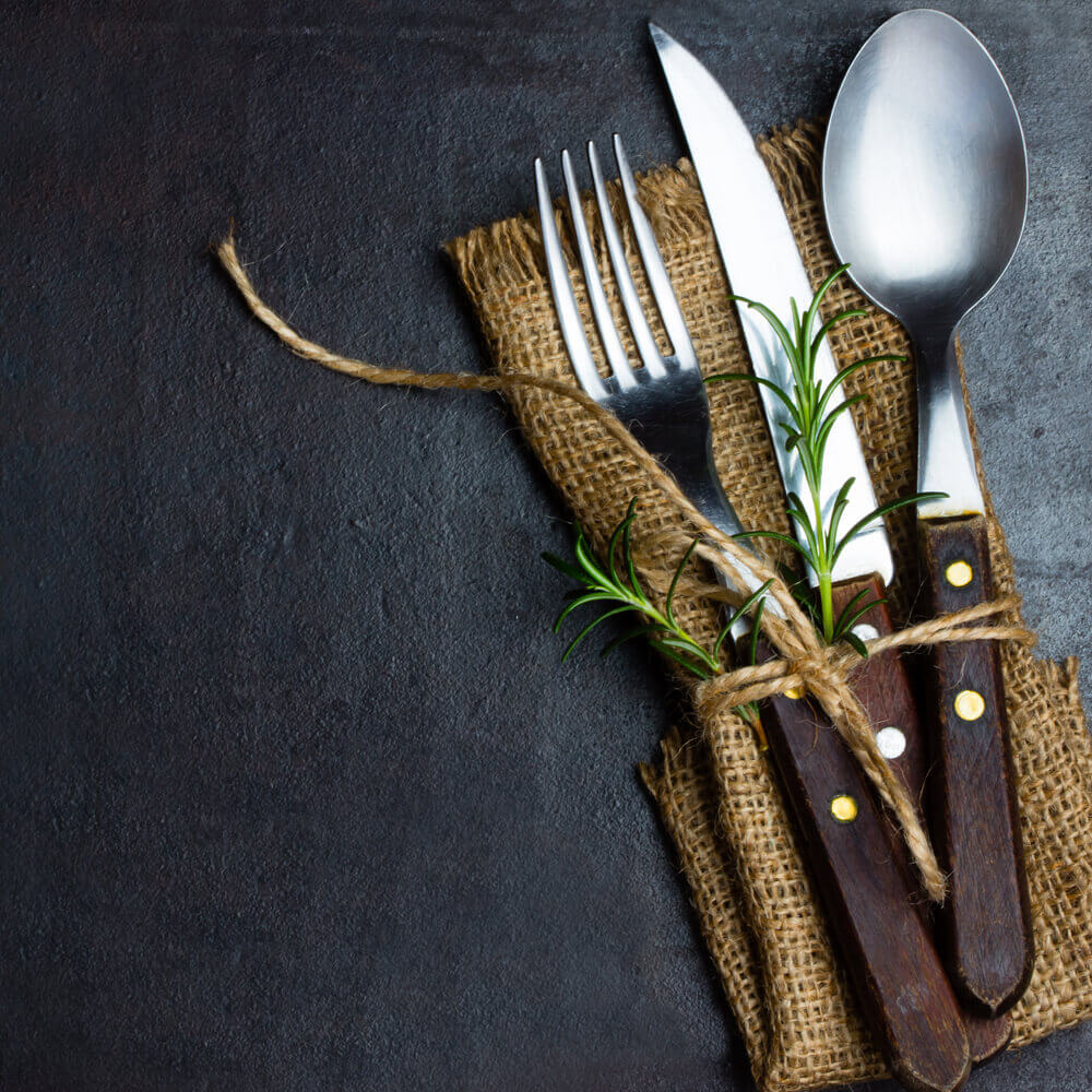 restaurant knife and fork