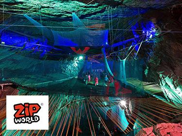 Zip World Underground Cave Trampolining