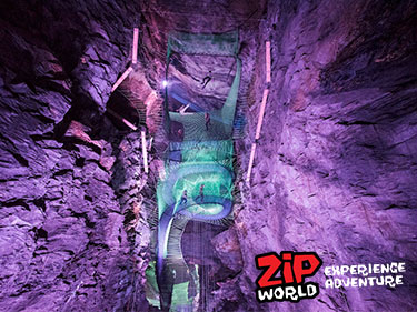 Zip World Bounce Below Underground Trampolining Wales