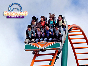 Oakwood Theme Park Top Things To Do in Wales with the Kids