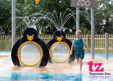 Twycross Zoo Half Term Water Park for Kids