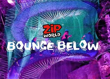 Bounce Below at Zip World in Wales