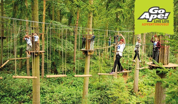 Go Ape Day Out Discount Nationwide