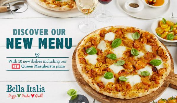 Bella Italia authentic NEW menu
